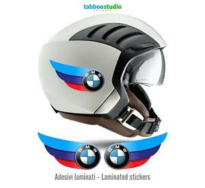 Adesivi tricolore BMW Motorrad racing casco replica moto custom helmet stickers