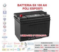BATTERIA PER AUTO POSITIVO SINISTRO SX 12V 100AH SPUNTO 800A POLI ESPOSTI = 95AH