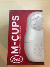 Fred & Friends M-CUPS White Matryoshka Made to Measure Cups, Set of 6