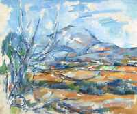 Montagne Sainte-victoire Paul Cezanne Wall Art Print on Canvas HQ Home Decor SM
