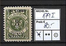 Memel 179 III mit PF I, Plattenfehler I, Falzspuren #b425