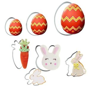 Easter Rabbit Eggs Carrot Cookie Stainless Steel Mold Easter Cookie Cutter DIY