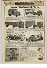 1940 Paper Ad Marx Buddy L Mechanical Toys Turnover Tank Scarab Gang Buster Car