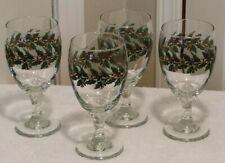Hand Painted Holiday Wine Glasses-Set Of 4