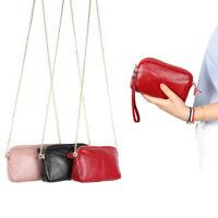 Genuine Leather Women's Chain Bag mini Crossbody Shoulder Bag Clutch Evening Bag