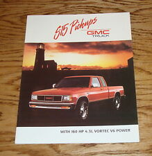 Original 1989 GMC Truck S-15 Pickup Sales Brochure 89