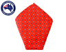 Men's Pocket Square Red with Square Patterned Handkerchief Wedding Mens Hankies
