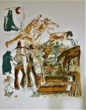 WARRINGTON COLESCOTT Lithograph HOME ON THE RANGE WILD WEST 24/75 PENCIL SIGNED