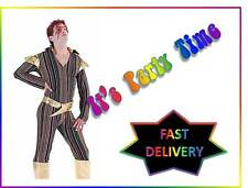 Mens Ziggy Stardust Costume Adults 1970s David Bowie Fancy Dress Pop Star Outfit