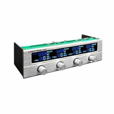 Lamptron FC5V2 (Silver) 4 Channel 7 Color LCD Display 5.25 Bay Fan Controller