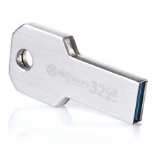 meZmory Key 32 GB USB 3.0 Metal Flash Pen Drive Memory Stick Silver 32GB Fast