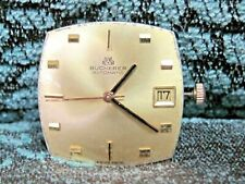 Vintage Gents Bucherer Automatic 25 Jewels 4-Adj's Date Watch Movement 2-Hand