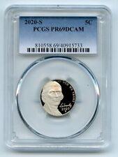2020 S 5C Jefferson Nickel Pcgs Pr69Dcam