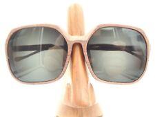 Vintage Rare Egon Von Furstenberg Oversized Wood American West Sunglasses Frames