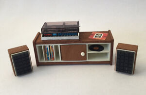 Vintage Lundby Dolls House Record Player, Speakers And Unit