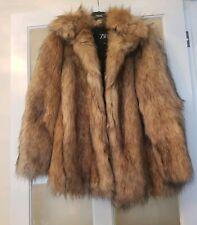 New *ZARA* Beautiful Faux Fur Coat  ( Size S)