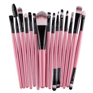 MAANGE Pro 15Pcs Eye Shadow Foundation Eyebrow Eyeliner Eyelash Brush Makeup 7