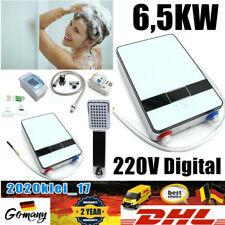 6,5KW 220V Digital Elektrisch Durchlauferhitzer Sofortig Dusch Bad Badezimmer DE