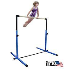 New Nimble Sports Blue Adjustable Horizontal Bar Gymnastics Junior Kip Bar