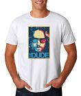 The Dude Abides Art T-Shirt, White S-3XL, Big Lebowski Movie Jeff Bridges Funny