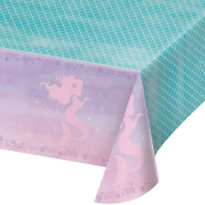 Mermaid Shine Plastic Party Tablecover Mermaid Party Tableware 137 x 260cm