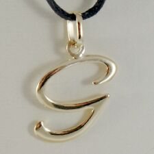 18K YELLOW GOLD PENDANT CHARM INITIAL LETTER G, MADE IN ITALY 0.9 INCHES, 23 MM