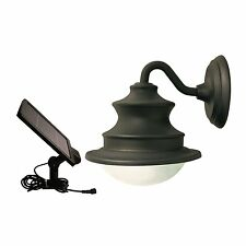 Gama Sonic GS-122 Solar LED Barn Light with Gooseneck Wall Mount