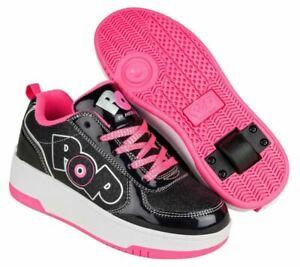 Heelys POP Shoes - Strike Black Sparkle/Black Holo/Pink