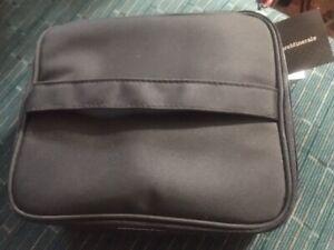 bareMinerals Bare Escentuals Black Cosmetic Case Clear Removable Zipper inserts