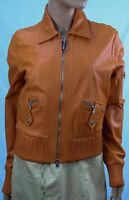 Authentic Society Women's Leather jacket US size 6 . Made in Italy