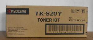 Original Kyocera TK-820Y yellow gelb für  FS-C 8100 DN  1T02HPAEU0001 OVP B