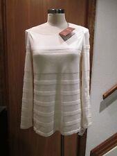Loro Piana Off-White Cashmere Silk  Pullover Top Blouse