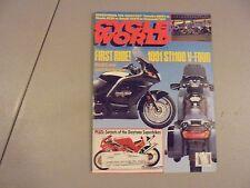 JUNE 1990 CYCLE WORLD MAGAZINE,750CC SHOOTOUT,YAMAHA OW01 VS HONDA RC30,SUZU GSX