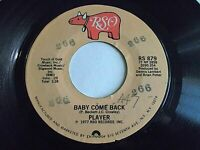 Player Baby Come Back / Love Is Where You Find It 45 1977 RSO Vinyl Record
