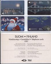 FINLAND FOLDER 4 SCHEDE NUOVE 1991 BASSA TIRATURA PTL TELE PERFETTO