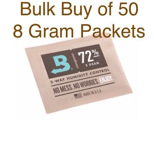Neuf Achat en Gros Boveda 8 Gramme 72% Humidipack - 2 Way Humidité Control (50 X