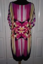 NWT $99.00 Maggy London Floral Print Fit & Flare Dress  Size 12