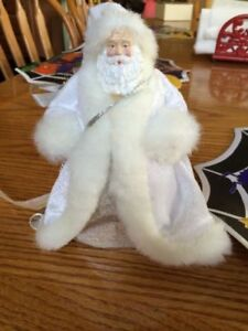 White Santa Tree Topper
