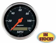 Auto Meter 0-120 mph Electric Speedometer - Designer Black - 1487