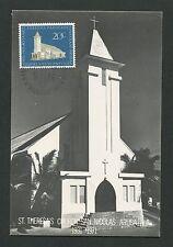 NEDERLANDSE ANTILLEN MK 1971 ST. THERESIA KIRCHE MAXIMUM CARD MC CM d2220