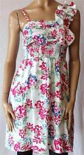 TARGET White Floral Ruffle Shoulder Summer Day Dress Size 10 BNWT (Si62)