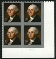 #4504 20c George Washington, Plate Blk [P11111 LR], Mint **ANY 4=FREE SHIPPING**
