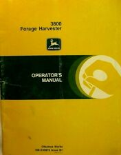John Deere 3800 Forage Harvester Operator's Manual