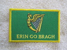 "Ireland ""Erin Go Bragh"" Flag Patch Erin Go Bragh Patch Irish Harp Celtic New!!!"