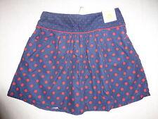Gymboree HOMECOMING KITTY Navy Blue Red Polka Dot Corduroy Skirt Girls Size 10