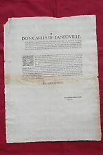 1714 - CATALONIA WAR OF SUCCESSION GIRONA BROADSIDE  Catalan - Rare Survival