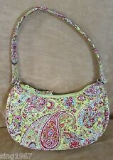 Vera Bradley purse Silk green paisley pinafore crescent bag pistachio small EUC