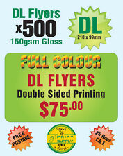 500 A6 / DL Double Sided Flyer Printing on 150gsm Gloss