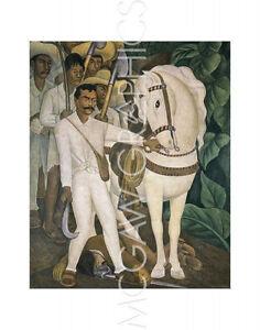 "RIVERA DIEGO - AGRARIAN LEADER ZAPATA - ART PRINT POSTER 14"" x 11"" (953)"
