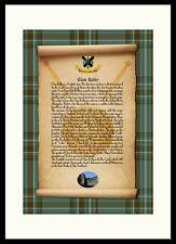 CLAN KELLY - Clan History, Tartan, Crest, Castle & Motto MOUNTED PRESENTATION